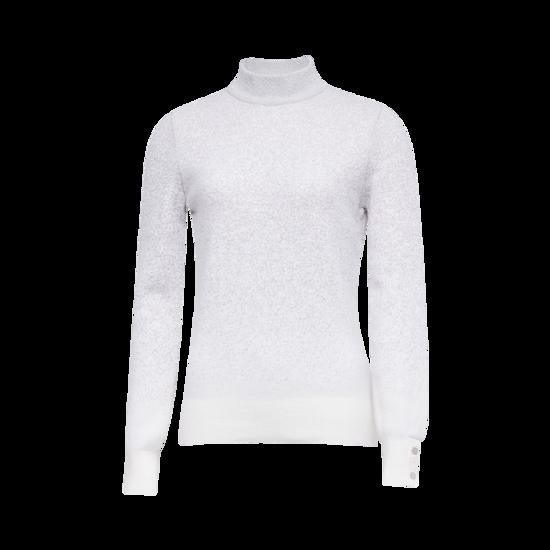 그라데이션 하이넥 여성 스웨터