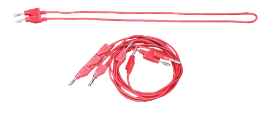 Banana Plug Cord-Red (5 Pack)