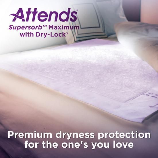 Attends Supersorb Maximum Premium Underpads
