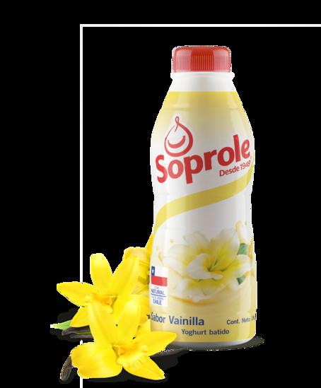Soprole Yoghurt sabor vainilla botella 1L