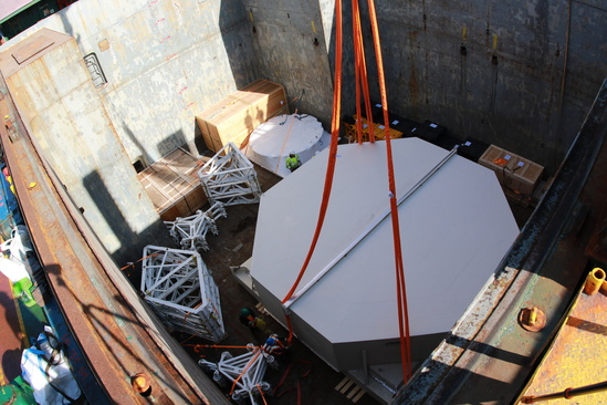 M1M3 Sails for Chile | The Large Synoptic Survey Telescope