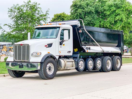 2020 Peterbilt 567 12x4 OX BODIES 19' Stampede Dump Truck