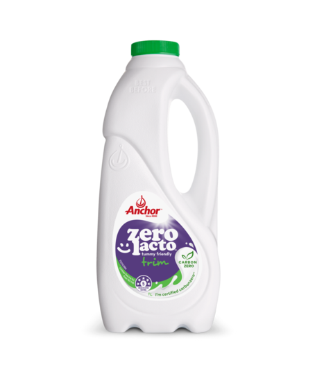 Anchor Zero Lacto Trim Milk 1L bottle