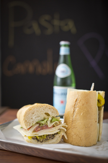For Amy Lawrence and Justin Fox Burks, there's nothing better than an entire veggie sub from Fino's when they want a great, but inexpensive, meal. Image: Justin Fox Burks