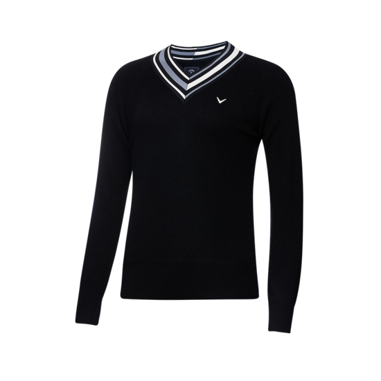 V넥 포인트 캐시미어 여성 스웨터