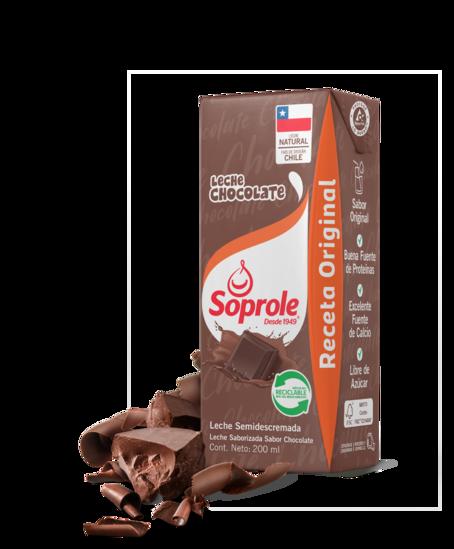 Soprole Leche Chocolate Receta Original 200 ml