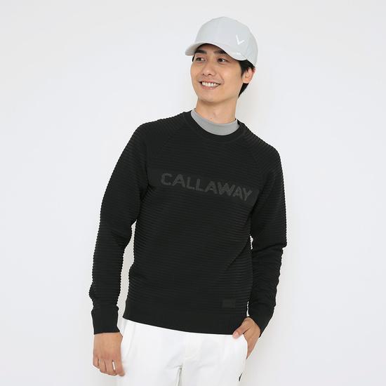 CALLAWAY プレーティング&ガーター編み撥水ニット (MENS)