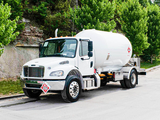 Trinity Containers 3200/80 Bulk Propane Delivery on 2020 Freightliner M2106 4x2