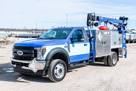 Load King Voyager P (6000) ServiceTruck+Crane on 2019 Ford F550 4x4