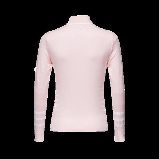 스트라이프 하이넥 여성 스웨터