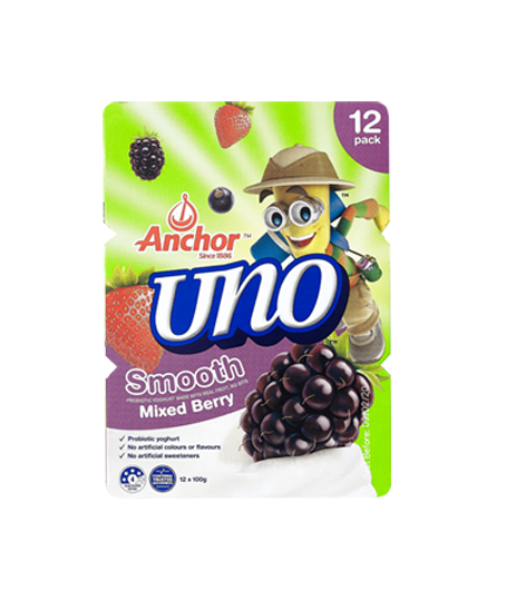 Anchor Uno Mixed Berry Yoghurt 12 x 100g pack