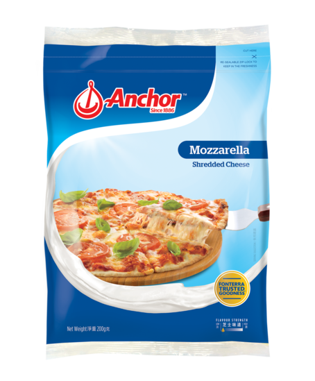 Anchor Shredded Mozzarella 200g