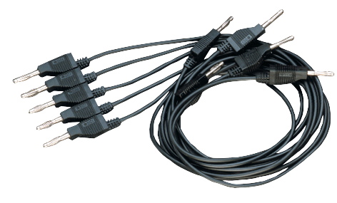 Banana Plug Cord-Black (5 Pack) • SE-9751