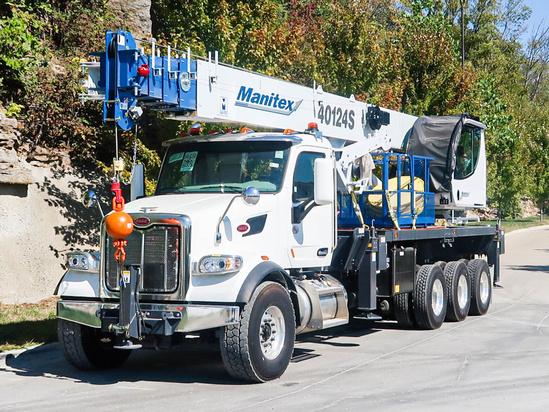 2022 Peterbilt 567 8x6 Manitex 40124S Boom Truck
