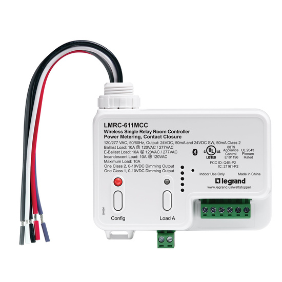 DLM Wireless Room Controller, 1 Relay, 10A, Metering & Contact Closure