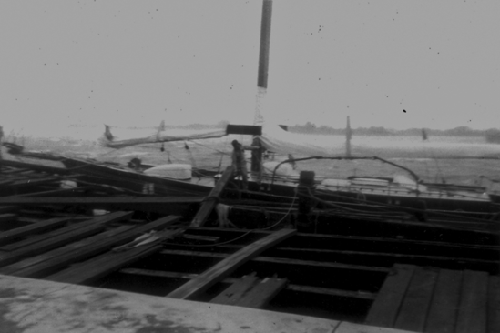 Dock damage due to hurricane