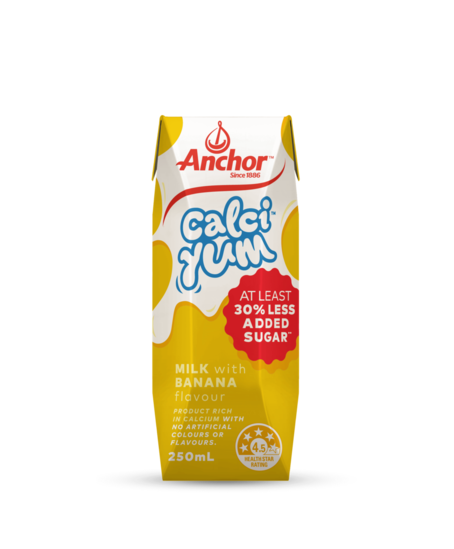 Anchor CalciYum Banana Milk 250mL pack
