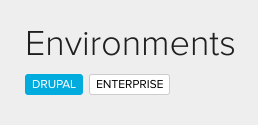 Environment badges