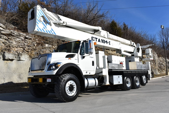2011 International 7600 8x6 Condor CTA-104-I Bucket Truck