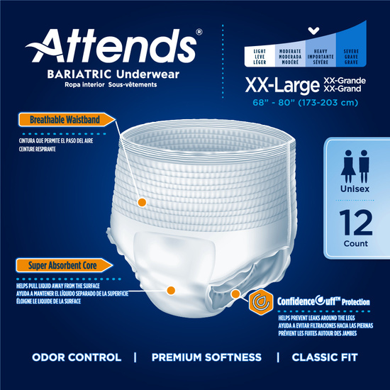Attends Bariatric Protective Underwear