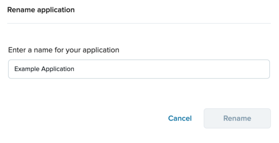 Updating the application name