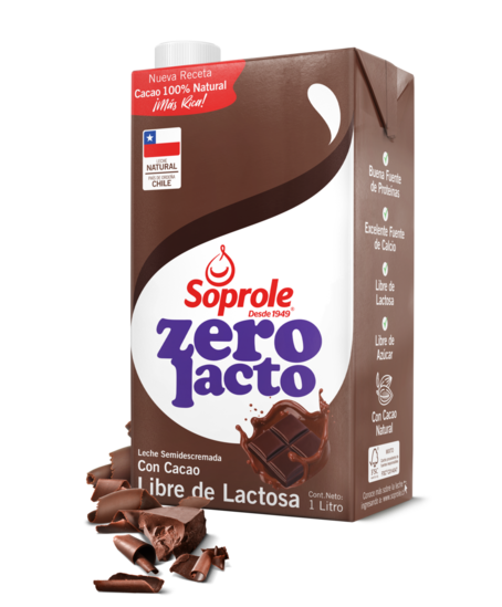 Soprole Zerolacto Leche con Chocolate 1L