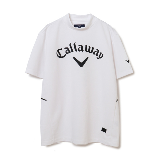 CALLAWAY 【オンライン限定】ストレッチスムース ビックロゴ モックネック半袖シャツ (MENS)