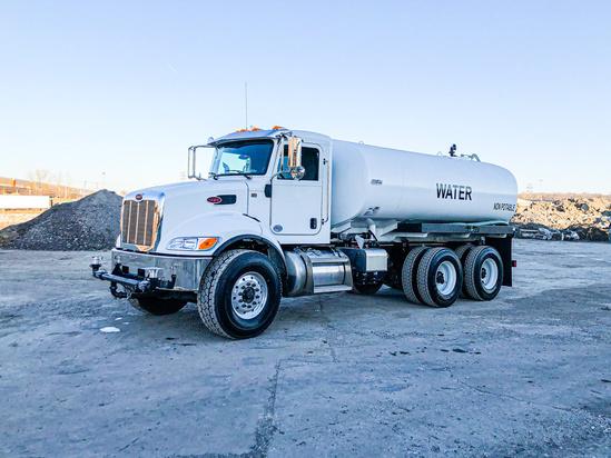 2019 Peterbilt 348 6x4 Load King 4000 Gal Kit Water Truck