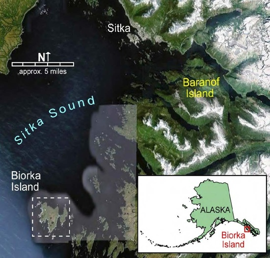 Aerial image and map of project location
