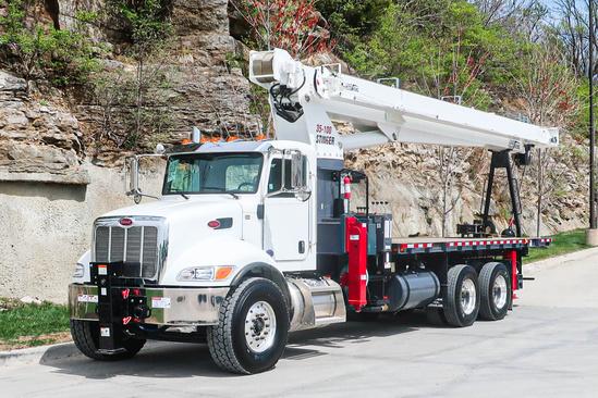 2021 Peterbilt 348 6x4 Load King Stinger 35-100 Boom Truck