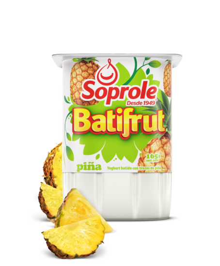 Soprole Yoghurt Batifrut clásico sabor piña 165