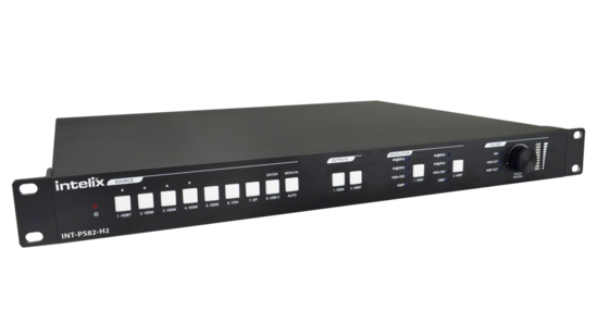 8x2 HDMI 2.0 Seamless Presentation Matrix Switcher/Scaler with HDBaseT Input and Output & Included HDBT Receiver