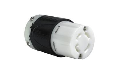 30 Amp NEMA L1530 Connector - Black Back, White Front Body