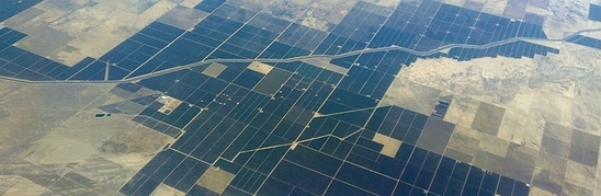 Aerial view of California farms