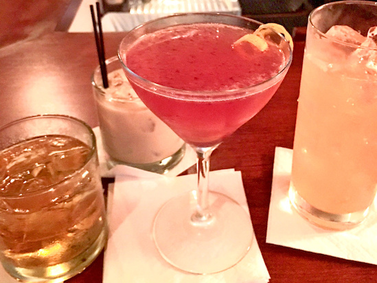 Happy hour well drinks at The Grove Grill.