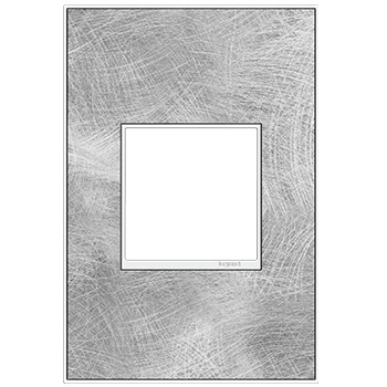 adorne® Spiraled Stainless One-Gang Screwless Wall Plate