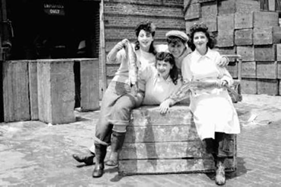 Women workers on break
