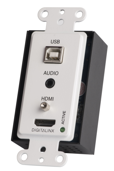 HDMI, audio and USB 2.0 High Speed Wall Plate HDBaseT Extender Set