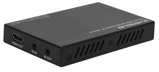 4X4 HDBT 18G 4k60 4:4:4 & HDR Matrix Switch w/ Multi Channel Down Mixing / Audio De-Embed, Kitted with 3 18G HDBT Receivers