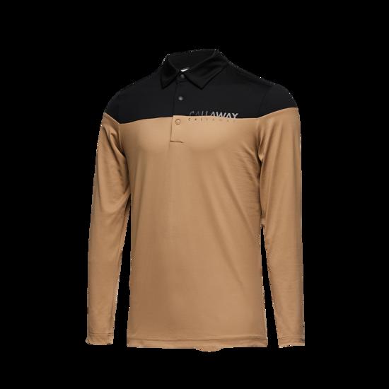 라인 컬러 블럭 남성 Y넥 티셔츠