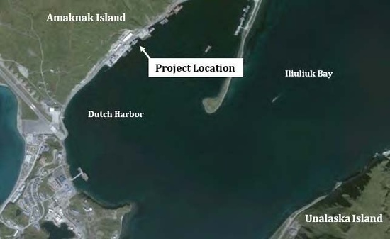 Aerial image of project location