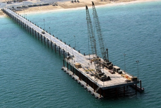 photo of an elevated causeway system modular