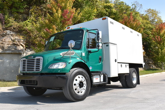 2017 Freightliner M2106 4x2 Chipbox with Hoist Chip Truck