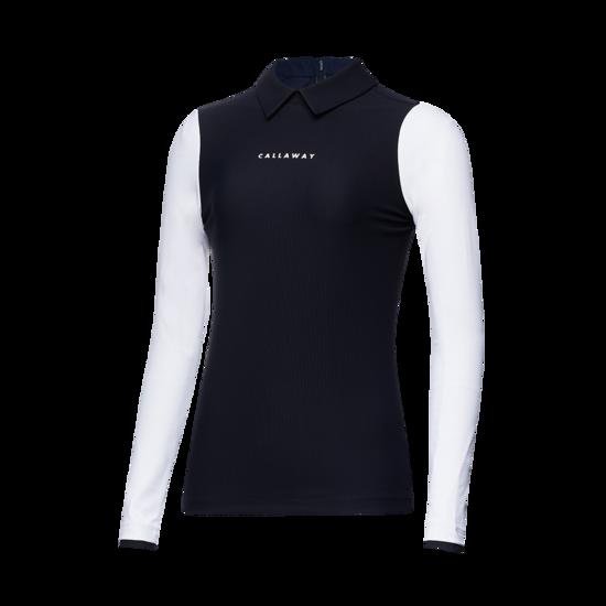 슬리브 컬러 블록 여성 긴팔 티셔츠