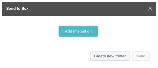 Select 'Add Integration'
