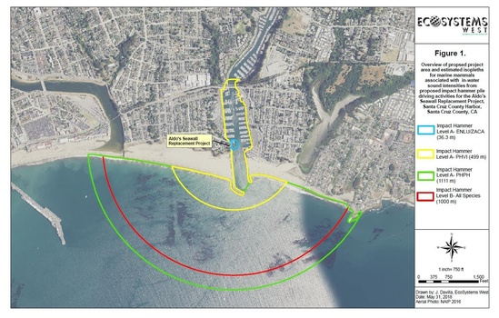 Aldos Seawall project overview aerial image