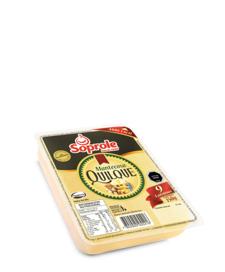 Soprole mantecoso queso laminado 150g