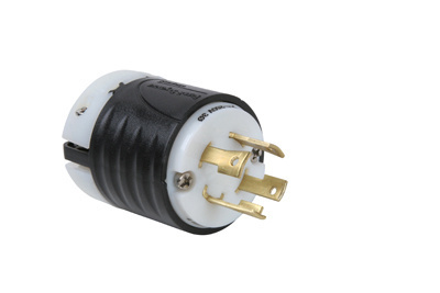 30 Amp NEMA L1530 Plug - Black Back, White Front Body
