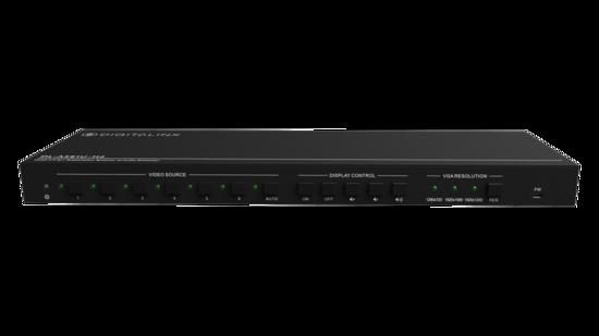 6x1 Presentation Auto Switcher features HDMI, DP, VGA, & USB-C Inputs