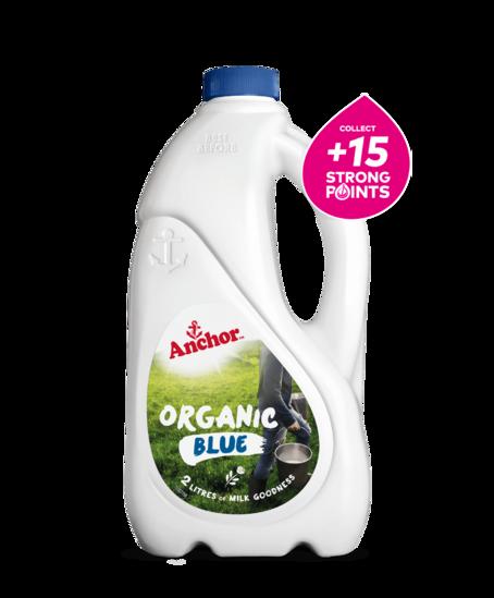 Anchor Organic Blue Milk 2L bottle